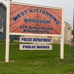 Police and Public works sign - West Kittanning Borough